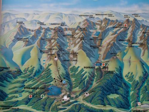 Mapa Vysoké Tatry, zdroj: redakce