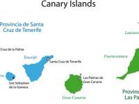 Mapa Kanárských ostrovů, zdroj: shutterstock.com