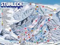 Plán sjezdovek Stuhleck, zdroj: stuhleck.com